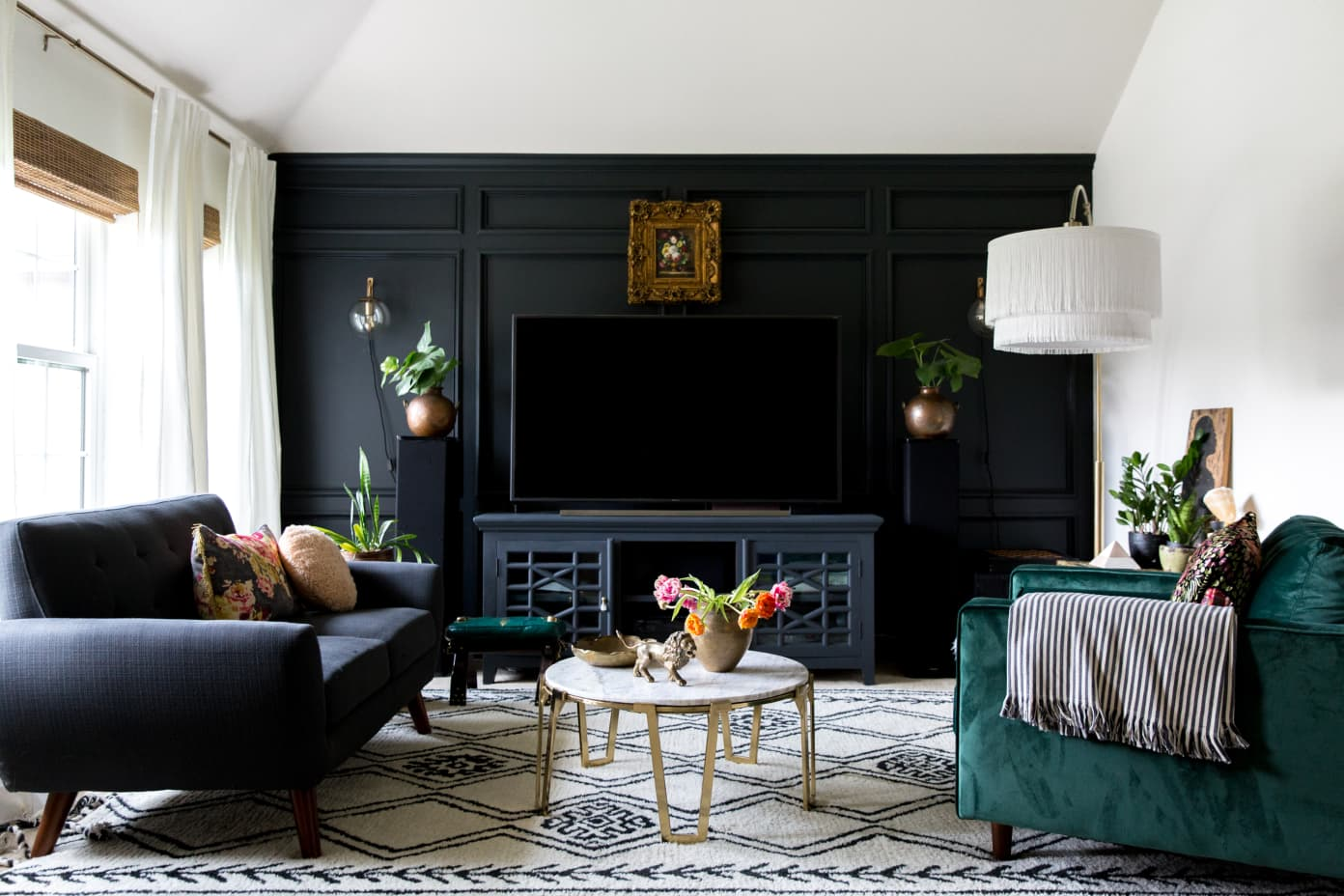 Desain ruang TV minimalis Biru_4