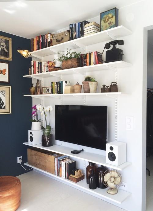 Desain Ruang TV minimalis Biru_5