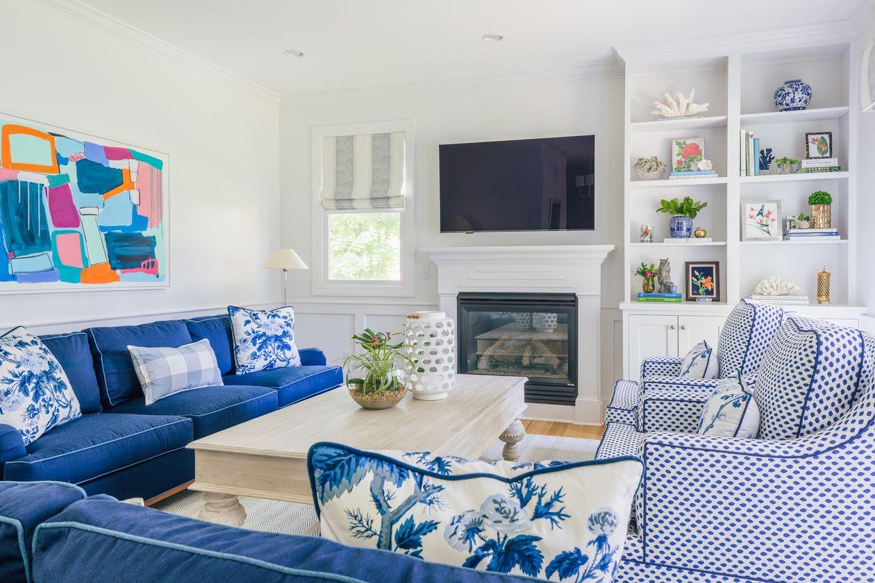 Desain Ruang TV minimalis Biru_6