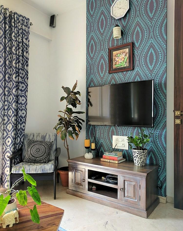 Desain ruang TV minimalis Biru_7