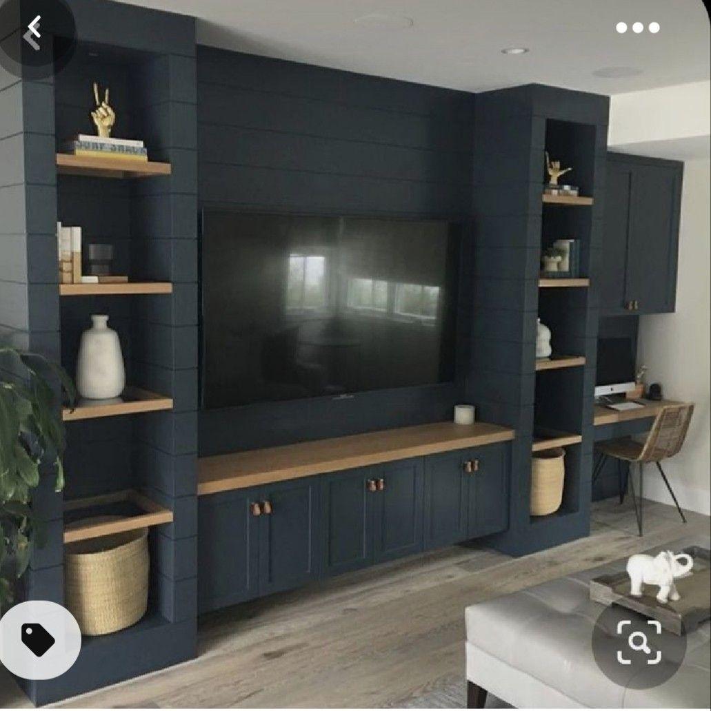 Desain ruang TV minimalis Biru_8