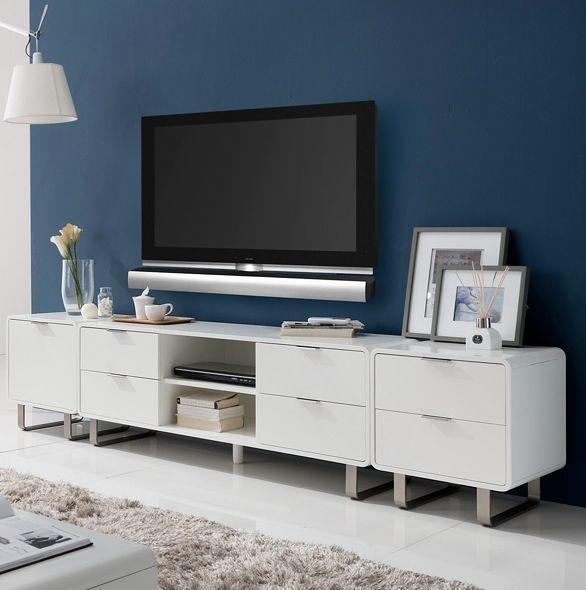 Desain Ruang TV minimalis Biru_9