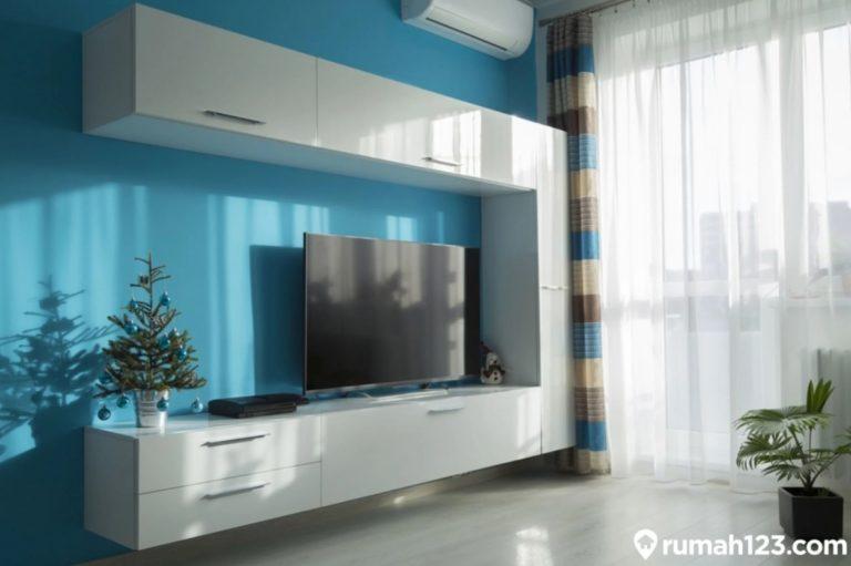 9 Desain Ruang TV Minimalis dengan Kombinasi Biru, Tampak Lebih Estetis