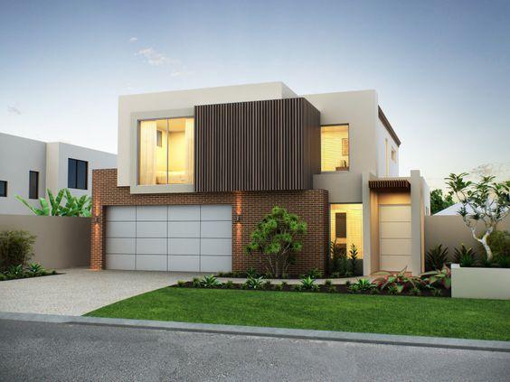 Rumah minimalis 2 lantai Krem_1