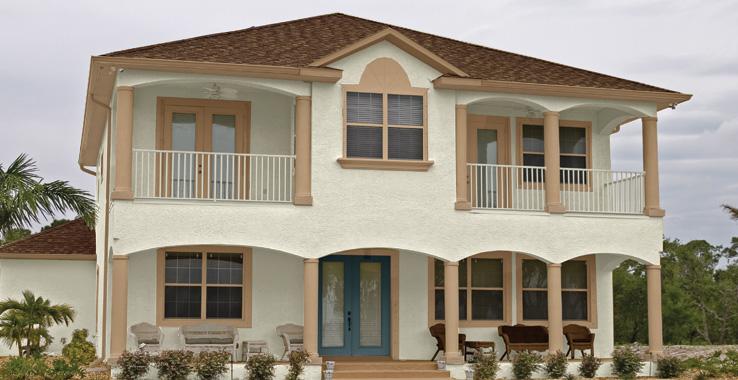 Rumah Minimalis 2 lantai Krem_3