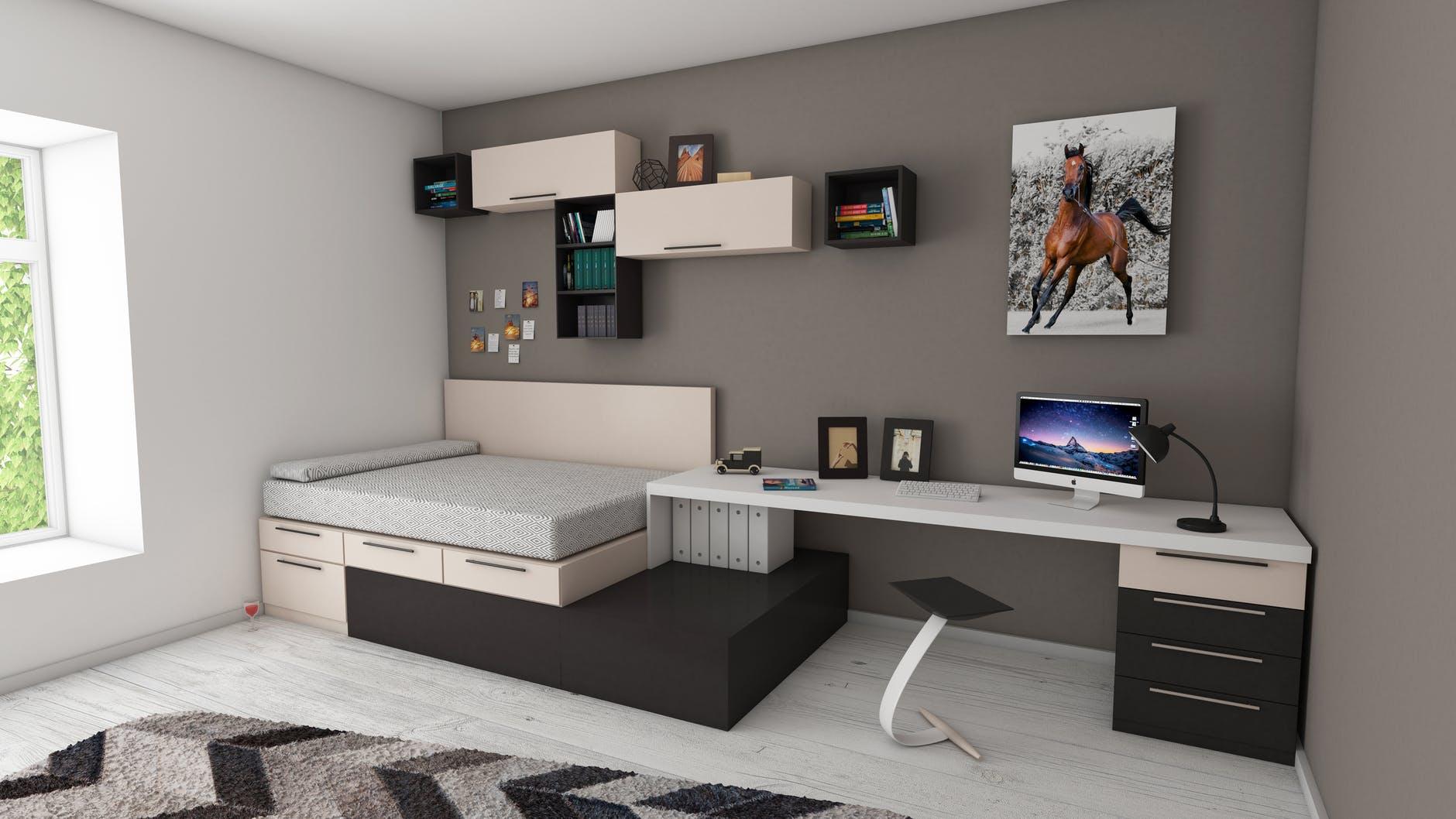 Desain Apartemen 2 Kamar - Furnitur Serbaguna