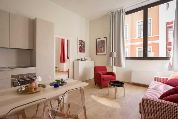 Desain Apartemen 2 Kamar - Warna Terang