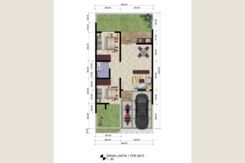Denah Grand Mekarsari Residence