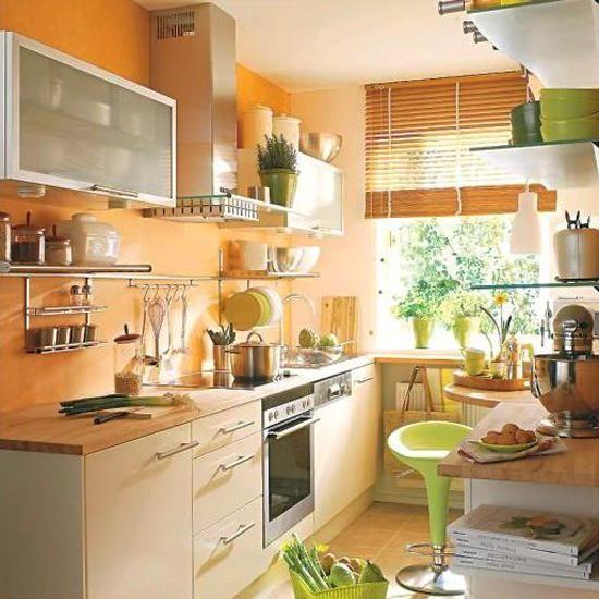 Desain dapur minimalis Oranye_2