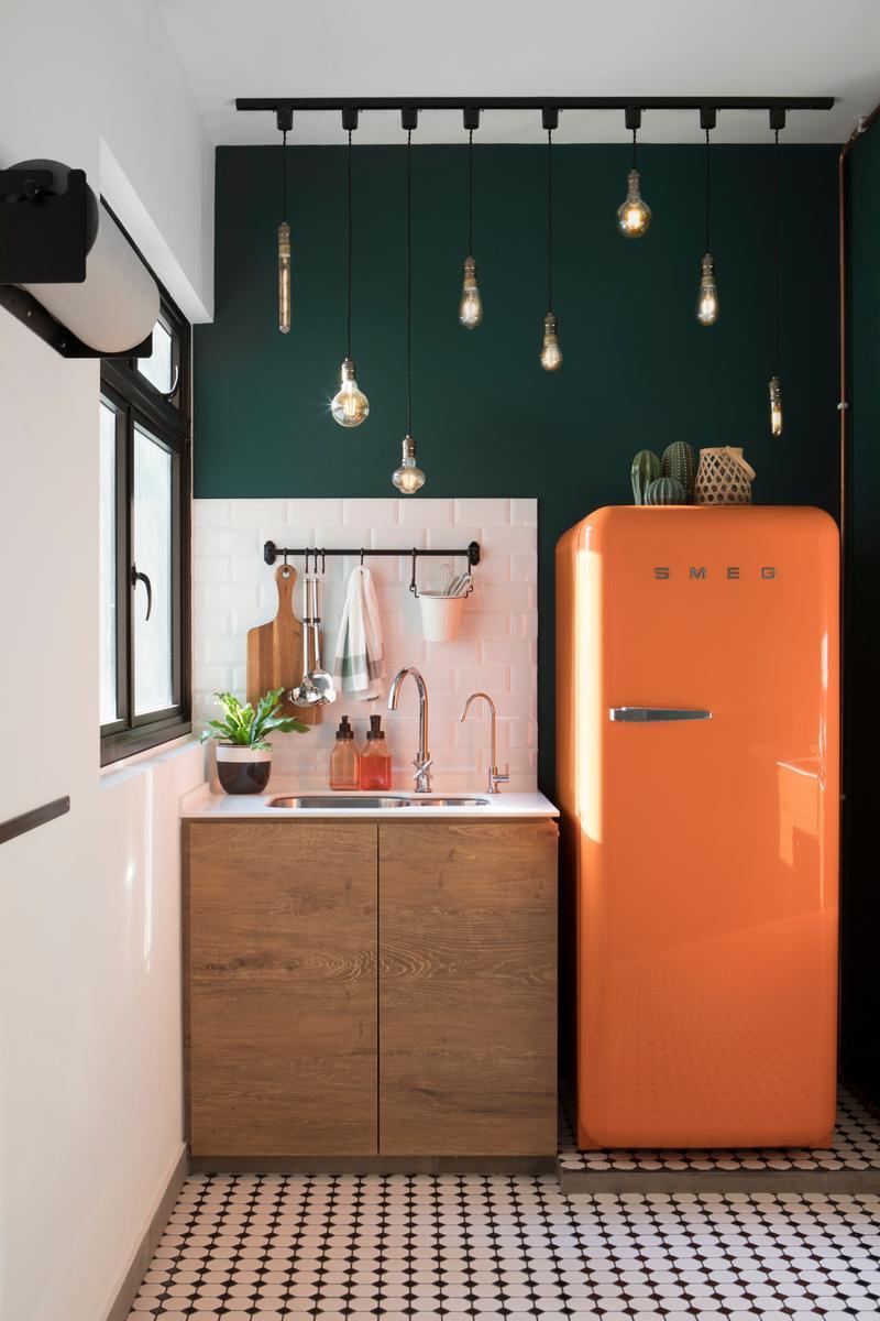 Desain dapur minimalis Oranye_4