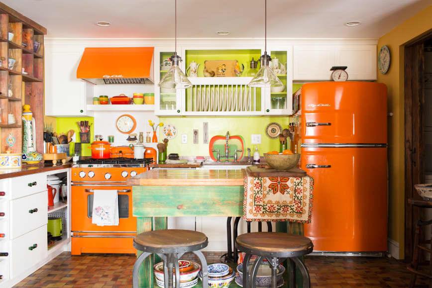 Desain dapur minimalis Oranye_10