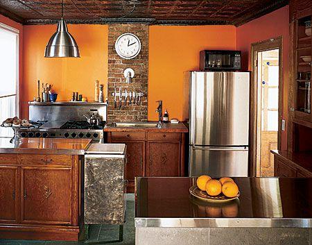 Desain dapur minimalis Oranye_11
