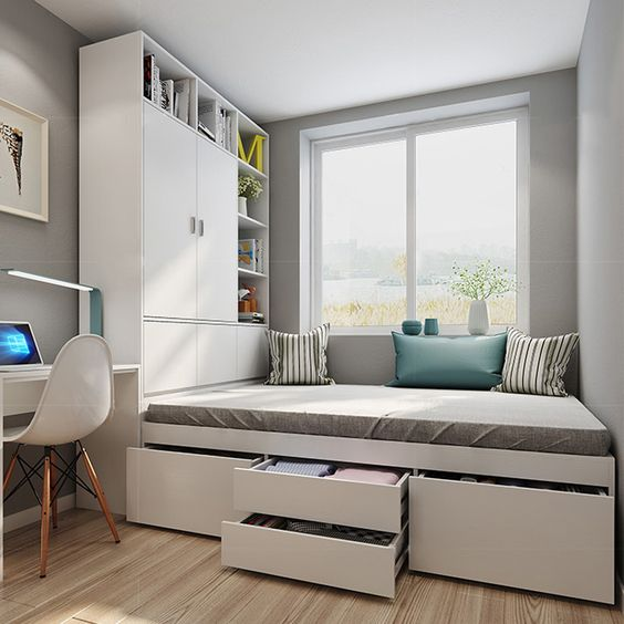 Kamar tidur minimalis Putih_4
