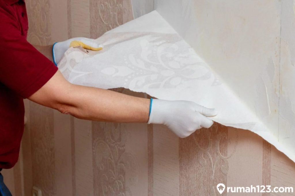 melepas wallpaper kamar