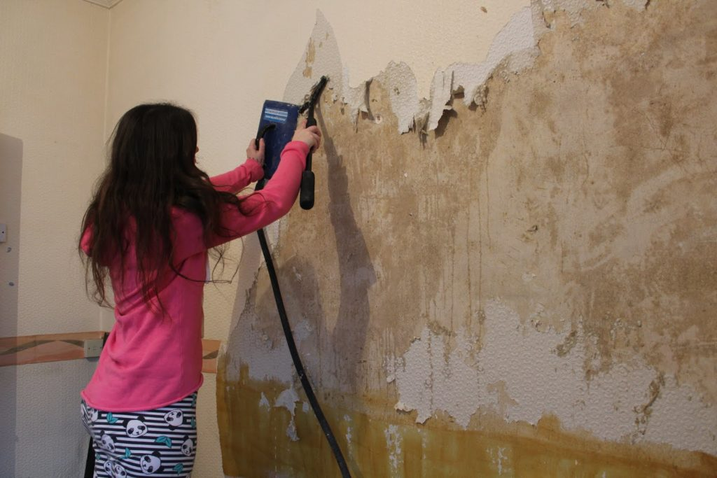 melepas wallpaper dengan steam wallpaper