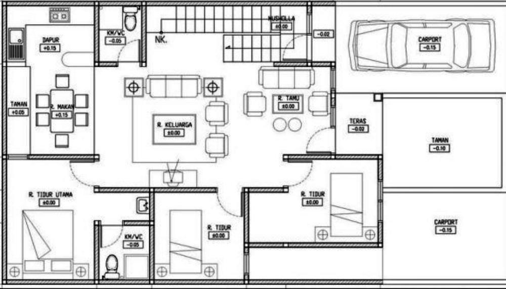 4-denah rumah 2 lantai