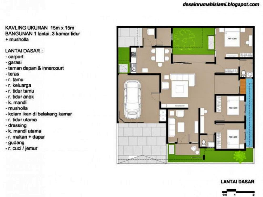 7-denah rumah 3 kamar tidur