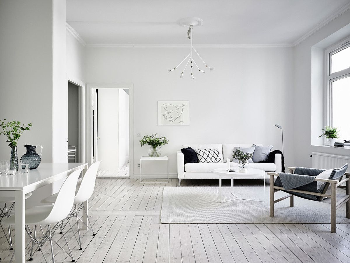 Desain Kontrakan 3 Petak dengan Warna Putih Sederhana