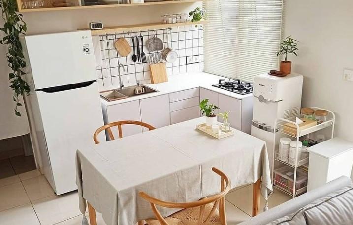 dapur putih minimalis