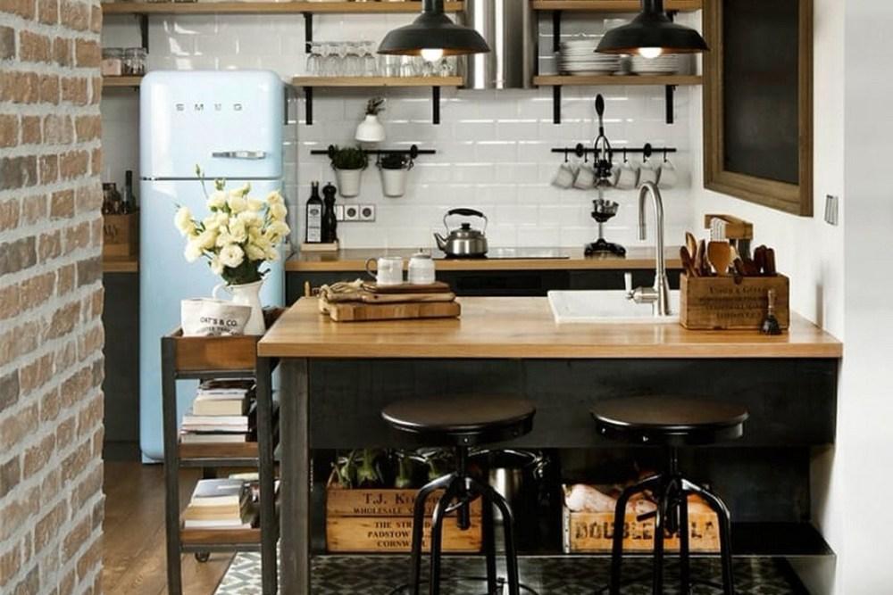 Dapur dengan Mini Bar