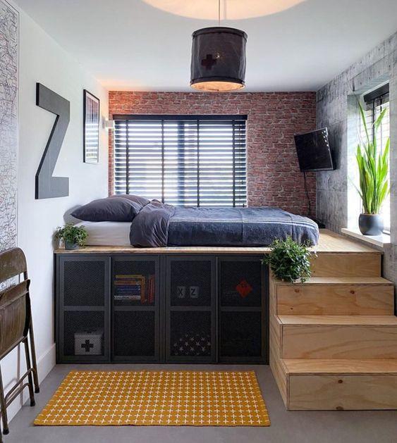 Desain Kamar Tidur minimalis industrial_2