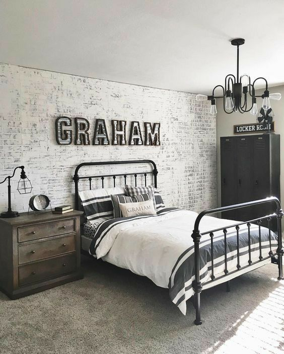 Desain kamar tidur minimalis Industrial_4