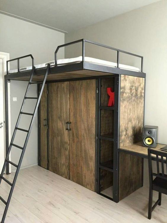 Desain Kamar Tidur Minimalis Industrial_5