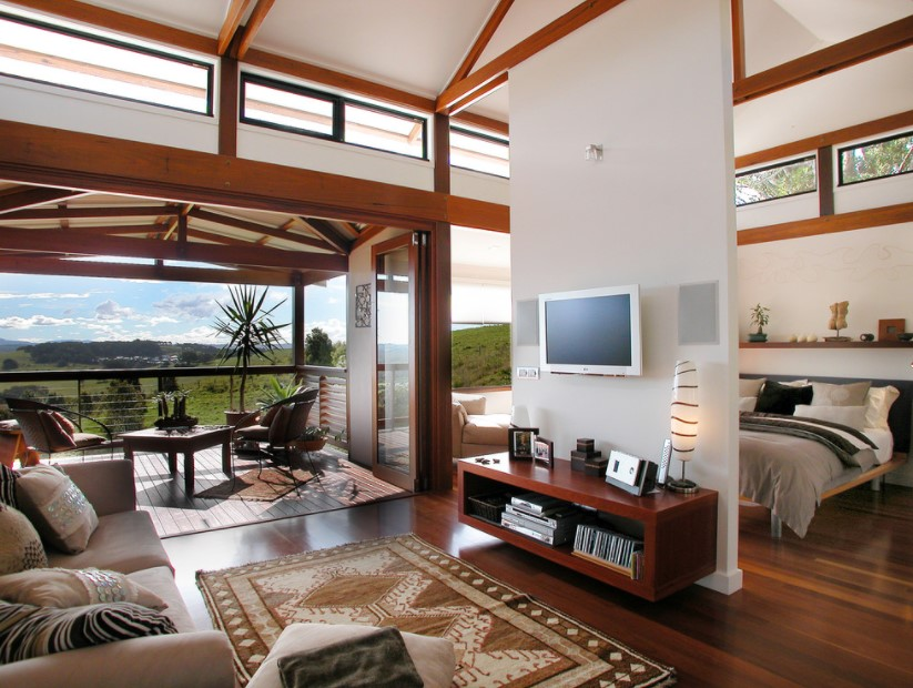 Rumah Konsep Apartemen Tropis Modern