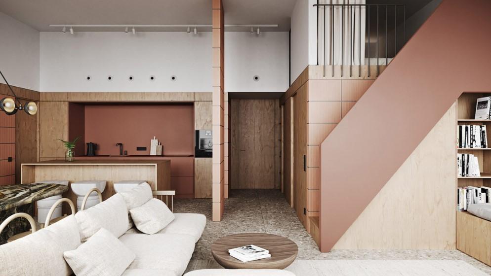 Rumah Konsep Apartemen Desain Modern