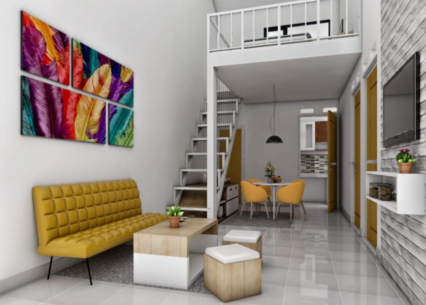 Rumah Konsep Apartemen Semi Mezzanine Modern