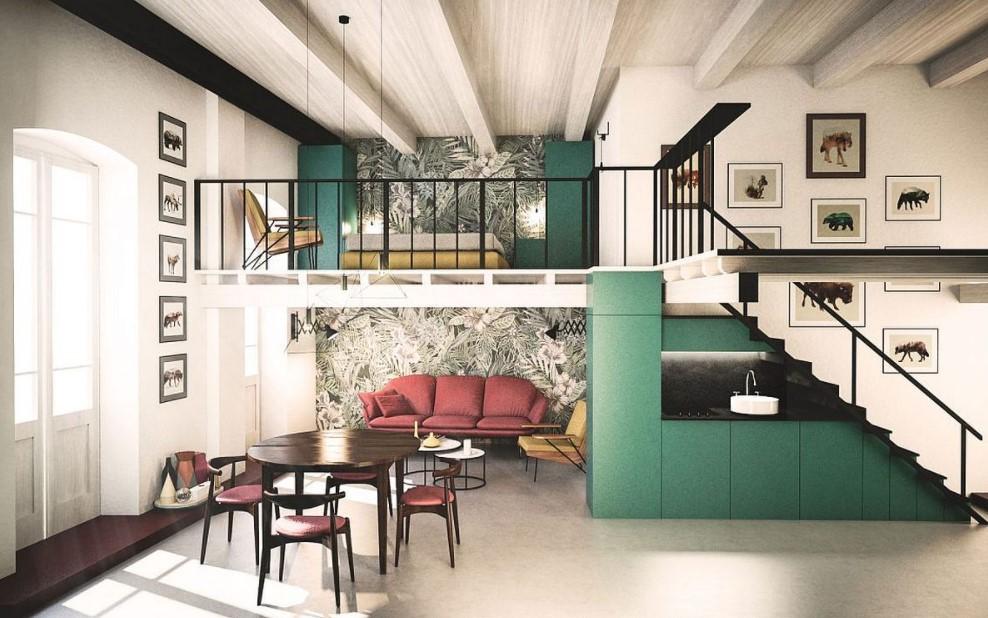 Rumah Konsep Apartemen Semi Mezzanine