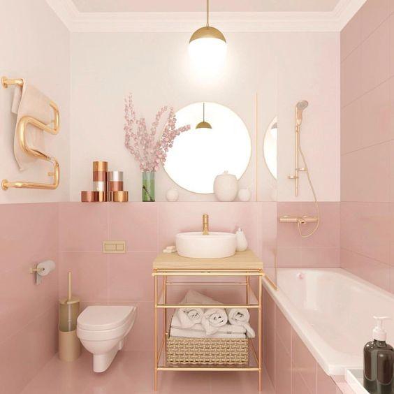 Kamar mandi minimalis Pink_2