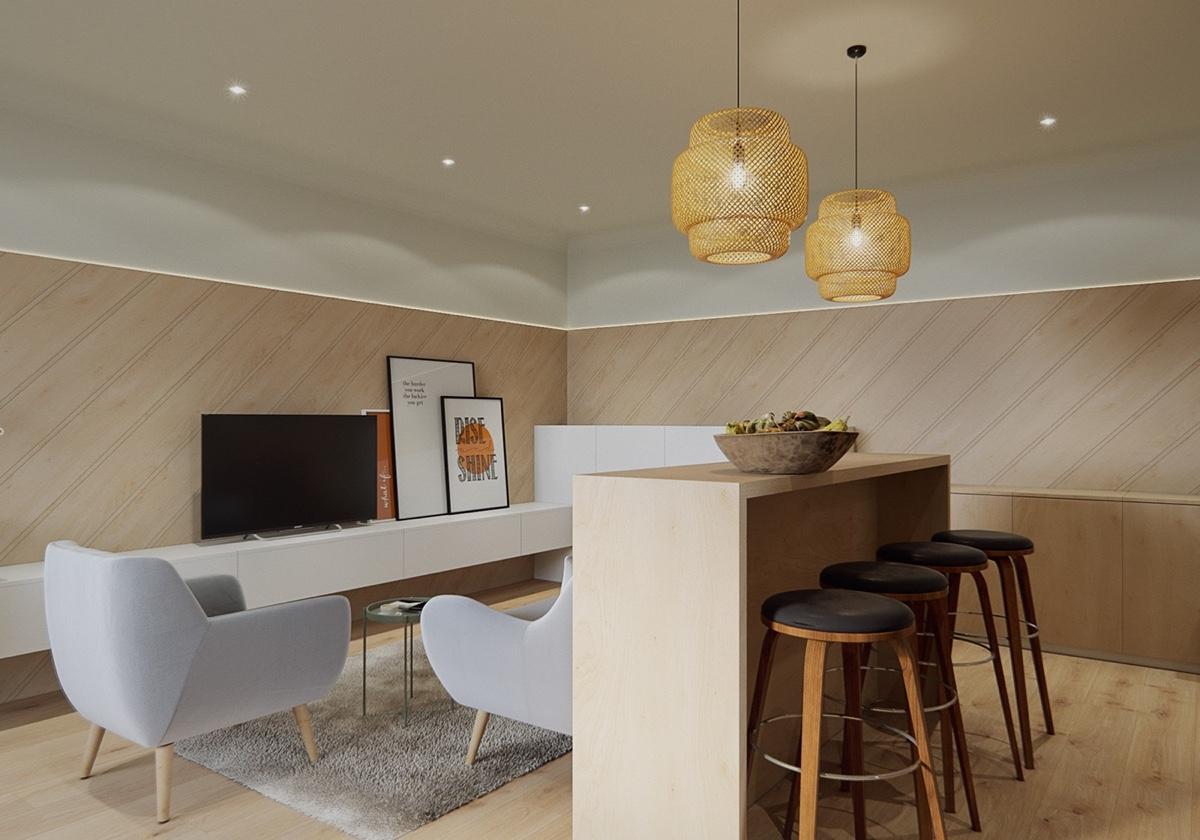 ruang tamu dan ruang makan 5