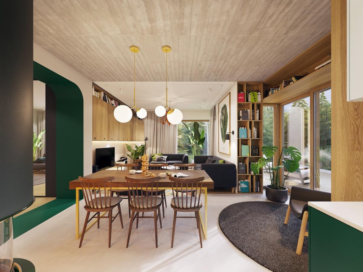 ruang tamu dan ruang makan 4