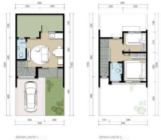 Denah Rumah Sederhana dengan Carport