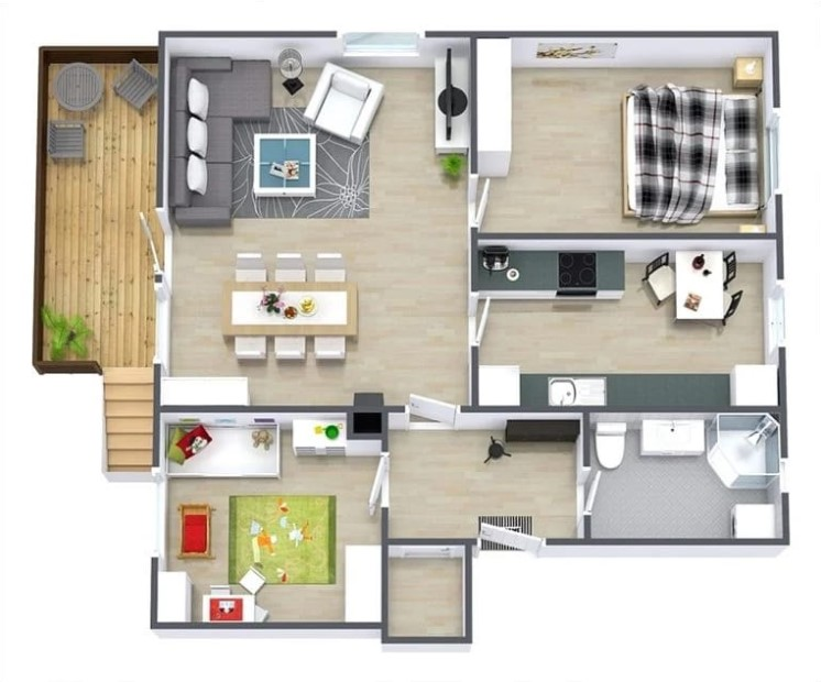 Denah Rumah Sederhana Modern Minimalis