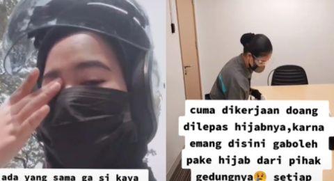 wanita curhat lepas hijab karena tuntutan