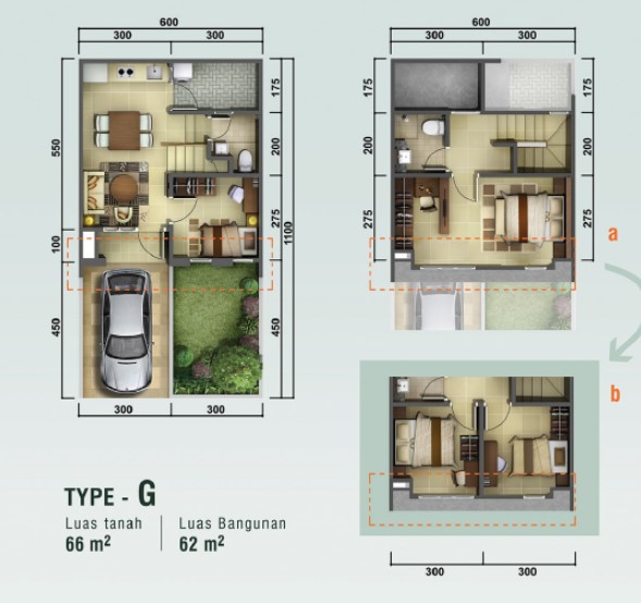 Denah Rumah Mewah 3 Lantai