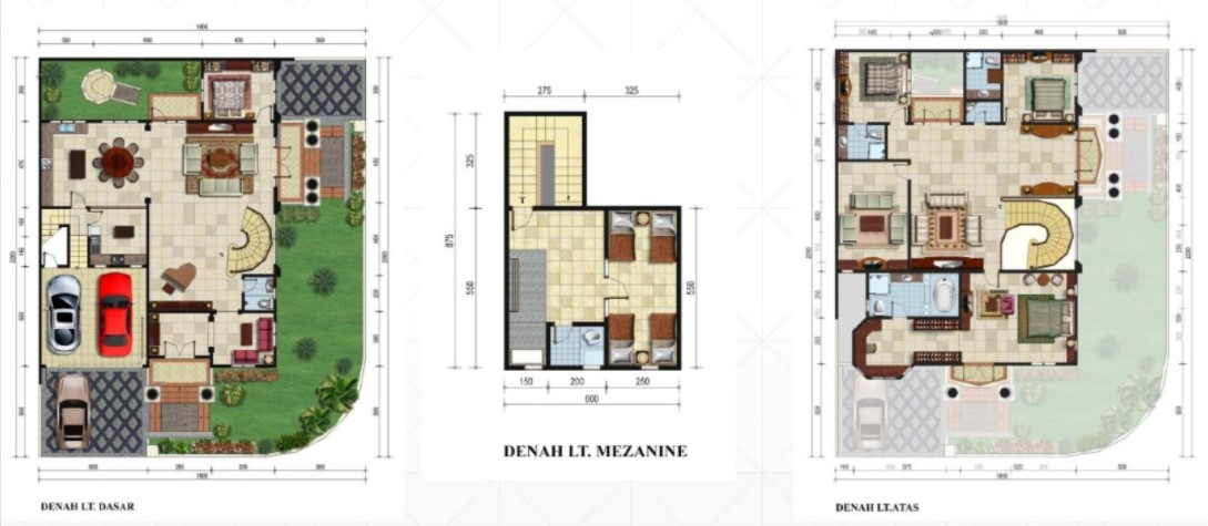 Denah Rumah Mewah Desain ala Eropa
