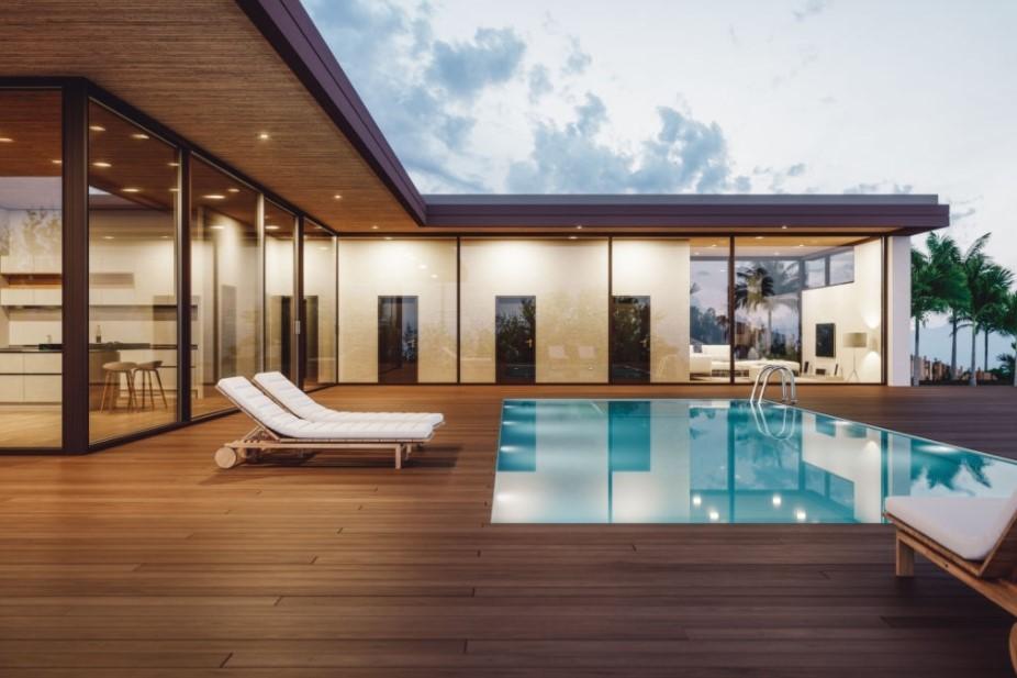 Desain Rumah Mewah dengan Kolam