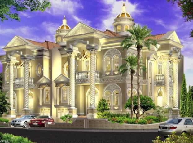 Desain Rumah Mewah Desain ala Eropa