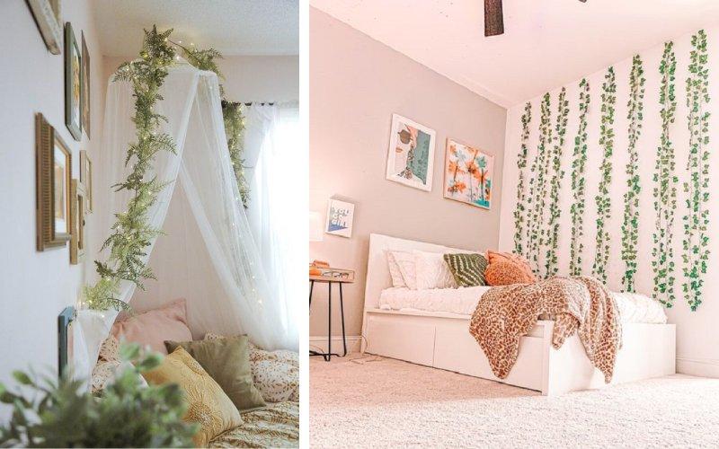 dekorasi kamar daun