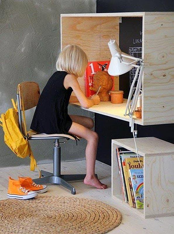 Inspirasi Meja Belajar Anak, ide desain meja belajar anak