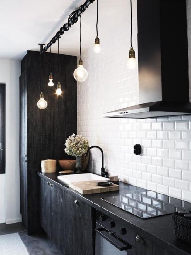 desain dapur minimalis bernuansa hitam 1