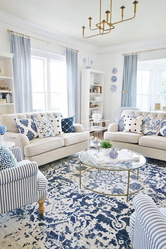Ruang Tamu Minimalis Bernuansa Biru 4