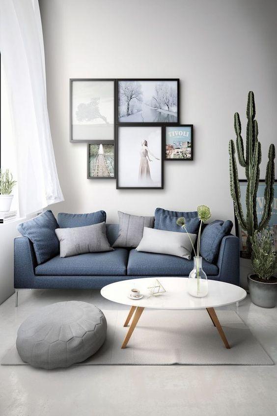 Ruang Tamu Minimalis Bernuansa Biru 2