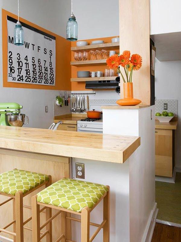 Inspirasi desain dapur kecil di apartemen