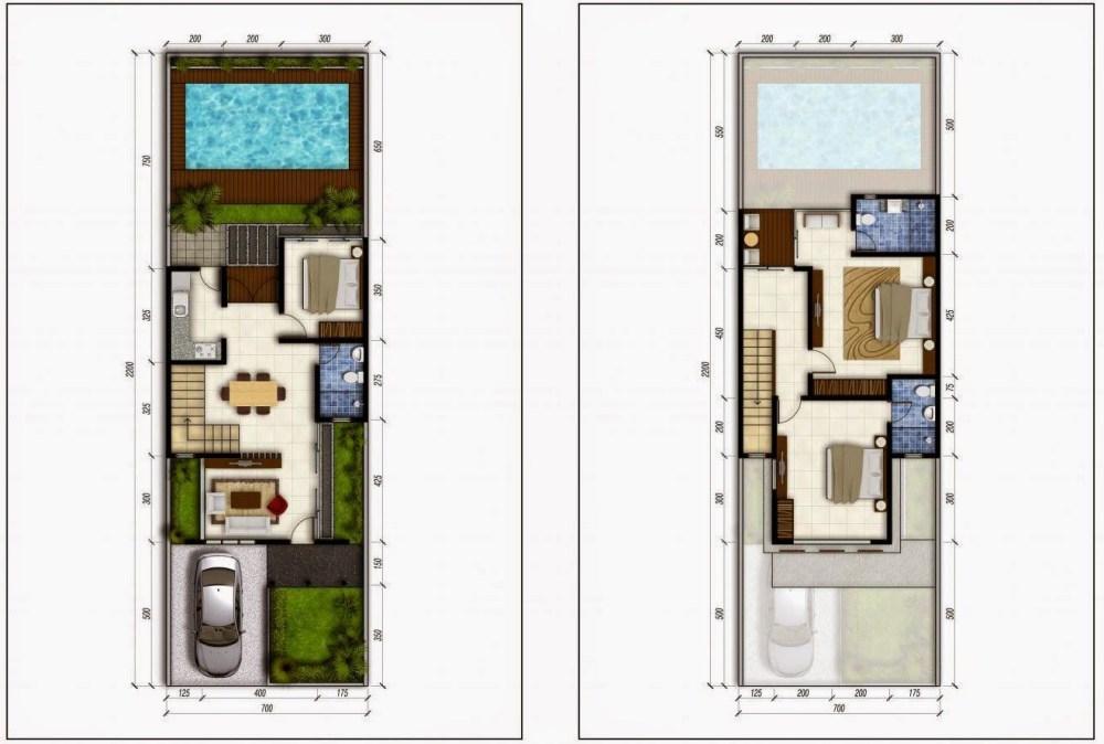denah-rumah-hook-2-lantai-dengan-kolam-renang