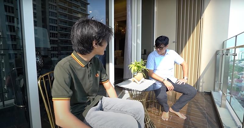 Balkon apartemen anak Andre Taulany