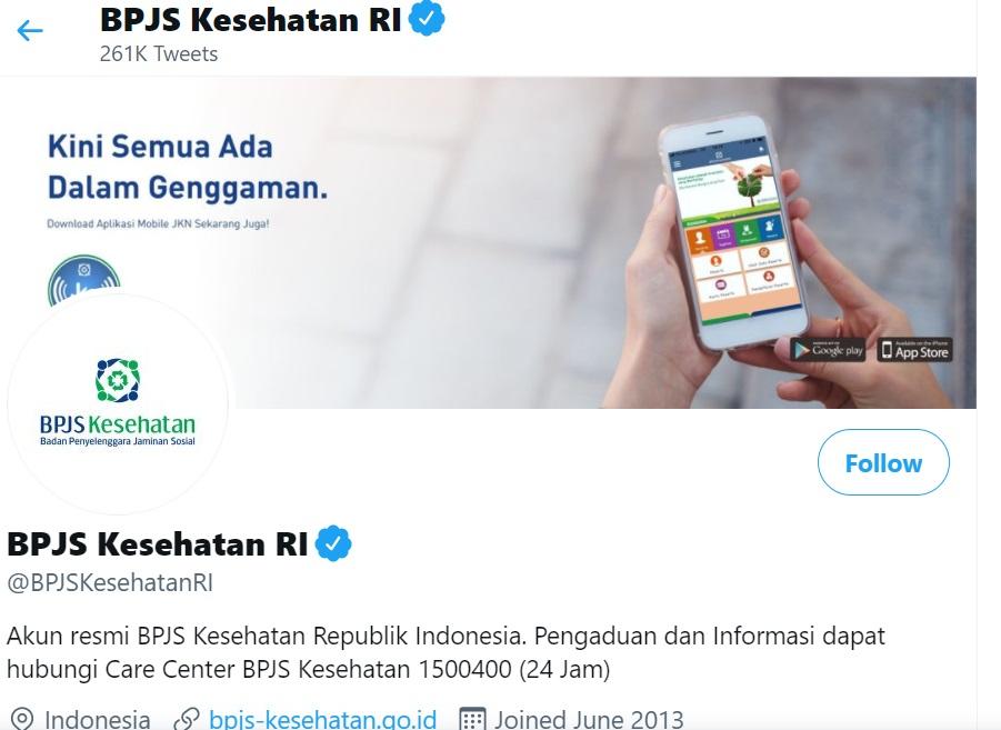 Twitter cek Kartu BPJS Kesehatan